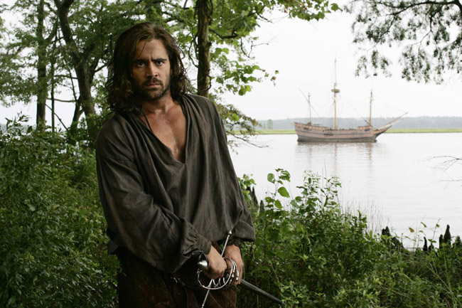 "Captain John Smith in the movie ""The New World"""