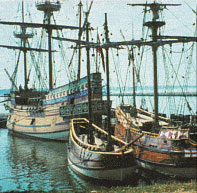 3 ships at Jamestown