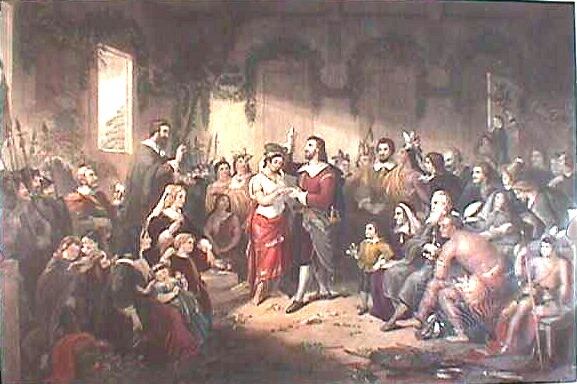 pocahontas marrying john Rolfe