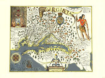 Captain John Smith's map of Virginia