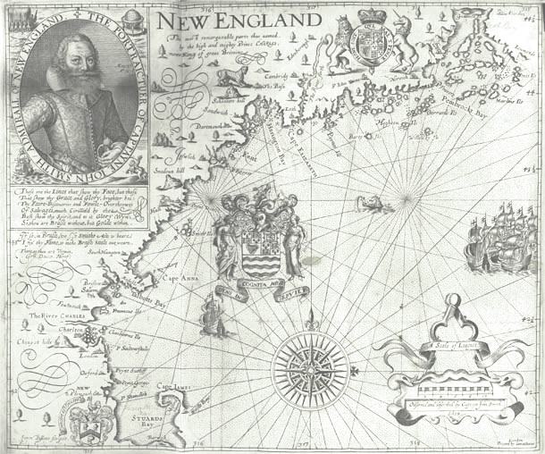 Smith's map of New England